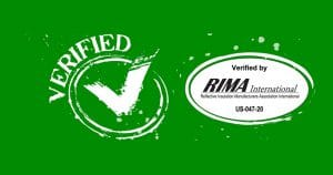 RIMA Verified Reflective and Radiant Products